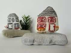 Little embroidered houses