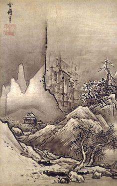 1420-1506 / 秋冬山水図・冬景 / 雪舟 / 水墨画 / 東京国立博物館