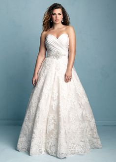 Dress style W351 by Allure Bridals.