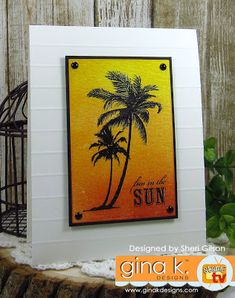 by Sheri Gilson Beach Cards, Sun Designs, Making Cards, Handmade Cards, Claire, Illustrator, Stamps, Backgrounds, Scrapbooking