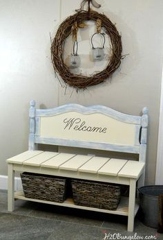 diy twin headboard bench with storage outdoor furniture repurposing upcycling storage ideas woodworking projects - April 20 2019 at Learn Woodworking, Easy Woodworking Projects, Woodworking Bench, Youtube Woodworking, Woodworking Videos, Woodworking Equipment, Woodworking Basics, Woodworking Machinery, Popular Woodworking