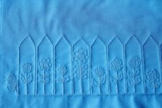 The Picket Fence, Free Motion Quilt Tutorial