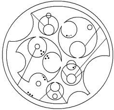 Just when you think knowing Klingon isn't geeky enough. Circular Gallifreyan, based on Doctor Who.