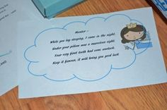 Tooth Fairy Magic. Poem & letters. Tooth fairy ideas