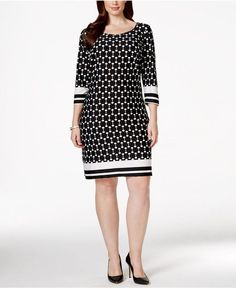 NY Collection Plus Size Printed Sheath Dress Supernatural Style Dress Outfits, Casual Dresses, Short Dresses, Fashion Dresses, Casual Outfits, Lovely Dresses, Beautiful Outfits, Plus Size Dresses, Plus Size Outfits