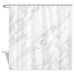"""White Marble Shower Curtain on CafePress.com High quality 69""""x70"""" decorative shower curtain; 100% softened polyester, hangs from 12 stitch-enforced eyelets"""