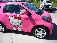 Hello kitty car by Nigzblackman on DeviantArt Hello Kitty T Shirt, Hello Kitty Car, Sanrio Hello Kitty, Kitty Kitty, Banzai Water Slide, Hello Kitty Favors, Love Twins, Girly Car, Hello Kitty Collection