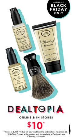 Black Friday Preview: The Art of Shaving The 4 Elements of the Perfect Shave Set  #Dealtopia #Sephora #blackfriday