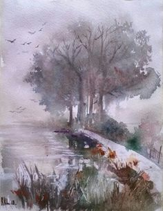 """""""Landscape"""" Watercolour.paper Arches. Size 22*28cm"""