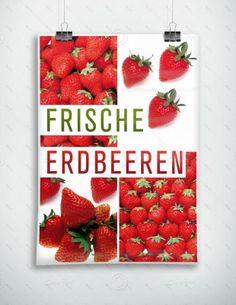 Frische Erdbeeren - Plakat - Poster, P-FP-0024 | Gastronomie | Plakate | Werbedesigns | Despri