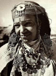 Beautiful Berber woman, Morocco! #Litany jewelry is inspired by the gorgeous adornments of this beautiful culture. FInd your #talisman here... www.litanyjewelry.com #NomadsandTalismans