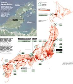 Japan's emergency plans are still below standards for evacuating millions of residents near nuclear reactors. #infographic