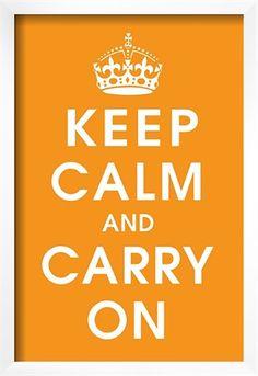 Keep Calm orange #delightfull http://www.delightfull.eu/