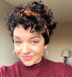 15.Hairstyle for Cute Short Curly Hair