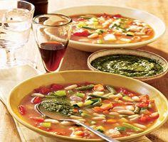 Crockpot Chicken Minestrone Soup-This is a Weight Watchers 7 PointsPlus+ recipe.