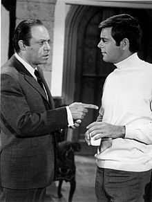 Malachi Throne with Robert Wagner in It Takes a Thief, 1968.