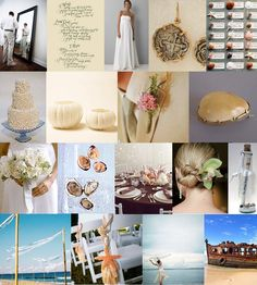 Mood: breezy and barefoot  Palette: sand, shades of white, with touches of pastel