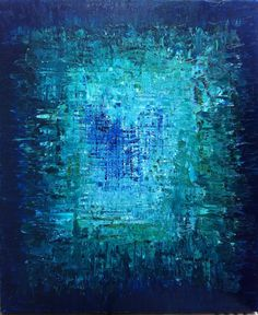 """HOLD for brcishere - Abstract Art Oil Original Painting Ocean Art, Ocean abstract Painting. Turquoise Blue, Sapphire Blue - """"THE ABYSS"""". $240.00, via Etsy. #artpainting"""