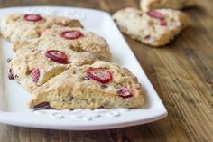 Vegan Strawberry Treats - As Requested! XStrawberry Chocolate Almond Scones!