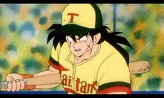 Yamcha plays baseball