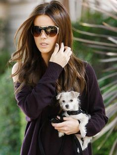 Kate Beckinsale takes her tiny puppy for a walk through LA on 8 October, 2009.
