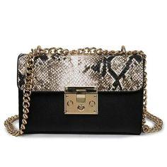 Vogue star New summer 2017 fashion handbag Women Messenger Bag Chain Crossbody bags Snake leather brand designer bag ladies LB44