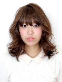 冬のしっとりツヤウェーブミディアムJapan+hair+short+long+bangs+layers+fine+haircut+bob
