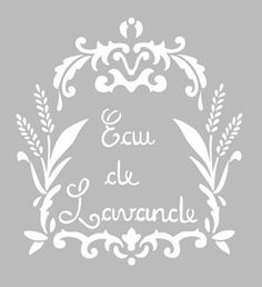 Pochoir Adhésif 22 x 20 cm AFFICHE LAVANDE VINTAGE