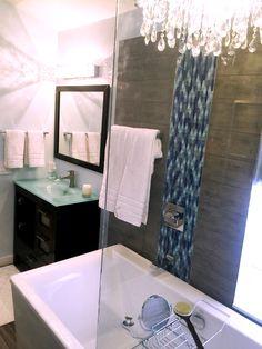 Bathroom Remodel Boca Raton bathroom remodel. love the blue ripple stream mosaic glass tile