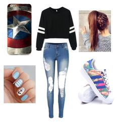 """""""Untitled #27"""" by joanasl ❤ liked on Polyvore featuring adidas"""