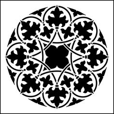 Motif No 11 stencil from The Stencil Library GOTHIC, MEDIEVAL AND TUDOR range. Buy stencils online. Stencil code GMT74.
