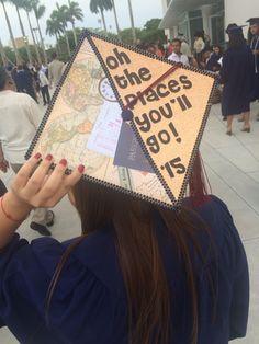 "My grad cap :) ""oh the places you'll go"""