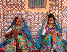 Embroidery a way of life in Kutch villages , Gujarat.