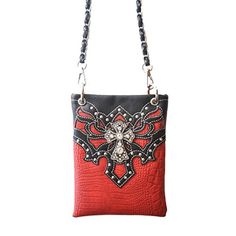 New Trending Bumbags: The Chic Bag - Rhinestone Cowgirl 4-way Bag - Scallops with Crystal Cross (Red; 6x8x1in) - BUY 2 GET A 3rd BAG FREE!. The Chic Bag – Rhinestone Cowgirl 4-way Bag – Scallops with Crystal Cross (Red; 6x8x1in) – BUY 2 GET A 3rd BAG FREE!  Special Offer: $39.95  277 Reviews The Chic Bag designs and manufactures innovative cross-body designer handbags releasing new and exciting styles...