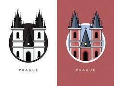 Famous Landmarks Prague - illustrations de monuments célèbres européens par Al Power - Article inspiration Illustration - Studio Karma - Graphiste Freelance