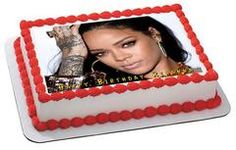Rihanna 1 Edible Birthday Cake Topper OR Cupcake Topper, Decor - Edible Prints On Cake (Edible Cake &Cupcake Topper)