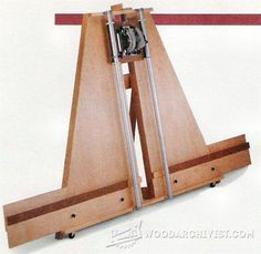 Panel Saw Plans - Circular Saw Tips, Jigs and Fixtures - Woodwork, Woodworking, Woodworking Plans, Woodworking Projects