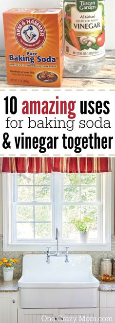 Here are different uses for baking soda and vinegar together. We have some clever cleaning tips for baking soda and vinegar uses that will help you save money! Try these vinegar and baking soda uses today! Baking Soda Cleaning, Baking Soda Uses, Household Cleaning Tips, Cleaning Recipes, House Cleaning Tips, Deep Cleaning, Cleaning Hacks, Bicarbonate Of Soda Uses Cleaning, Cleaning Vinegar