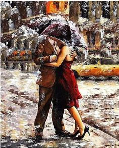 """DIY Painting By Numbers - Romantic Lover (16""""x20"""" / 40x50cm)"""