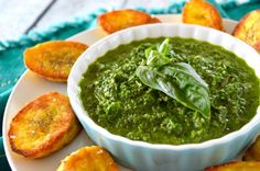 If you've never tried plantains, you're in for an awesome flavor-explosion ride. And guaranteed you've never tried fried plantains with MY chimichurri.