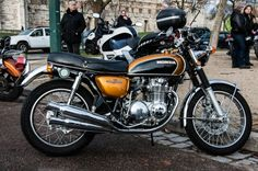 Honda CB 500 Four Trike Motorcycle, Retro Motorcycle, Honda Bikes, Honda Cars, Cb Cafe Racer, Honda Cb 500, Automobile, Japanese Motorcycle, Old Motorcycles