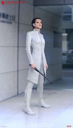 """ArtStation - """"Mirror's Edge: Catalyst"""" - Cat - Character Concept, Per Haagensen Cat Character, Character Costumes, Character Outfits, Character Concept, Concept Art, Moda Cyberpunk, Cyberpunk Fashion, Steampunk Fashion, Gothic Fashion"""