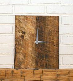 Reclaimed Wood Wall Clock from Re:Work Furnishings