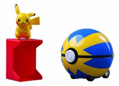 $13.99 Pikachu Amazon.com: TOMY Pokémon Catch 'N Return Pokeball - Pikachu/Quick Ball: Toys & Games