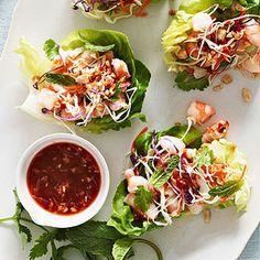 Vietnamese Shrimp Lettuce Wraps #healthyfamilydinners