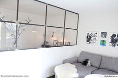 väggmålning,grå,sovrum,vardagsrum,rumsavdelare