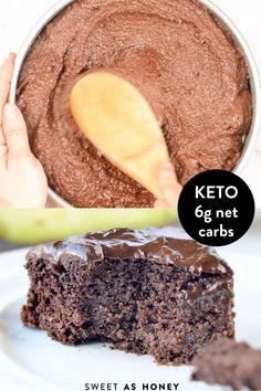 Keto Chocolate Avocado Cake Dairy free + Gluten free Chocolate Avocado Cake, Keto Chocolate Cake, Keto Cake, Keto Cheesecake, Pumpkin Cheesecake, Keto Postres, Keto Recipes, Dessert Recipes, Shrimp Recipes