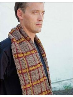Not sure what to crochet for the man in your life (or perhaps that man is you)? Try the Bearsden Plaid Crochet Scarf