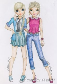 I and RainbowPie ( I draw this in summer ) Paper Doll Template, Best Friend Drawings, Mini Happy Planner, Summer Design, Free Coloring Pages, Creative Studio, Fashion Sketches, Designs To Draw, Models