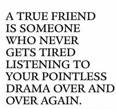 I only have a handful of people that I can refer to as friends.